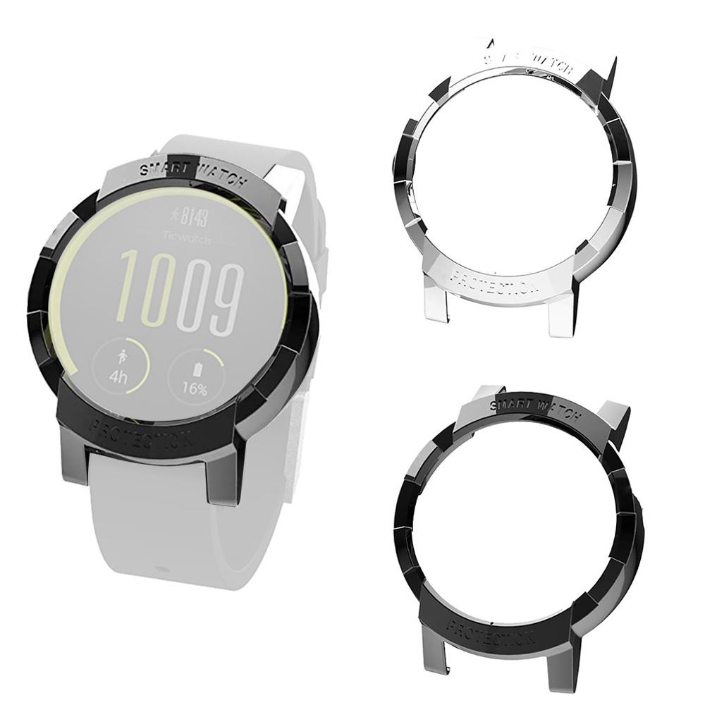 Electroplate Transparent TPU Hollow-Out Case Cove For Ticwatch E Smart watch anti-scratch Protective accessories #710(China)
