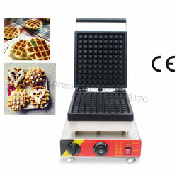 Electric Square Belgium Waffle Machine Commercial Cake Maker Liege Waffle Baker 110V/220V 1500W Snack Street Fast Food Device
