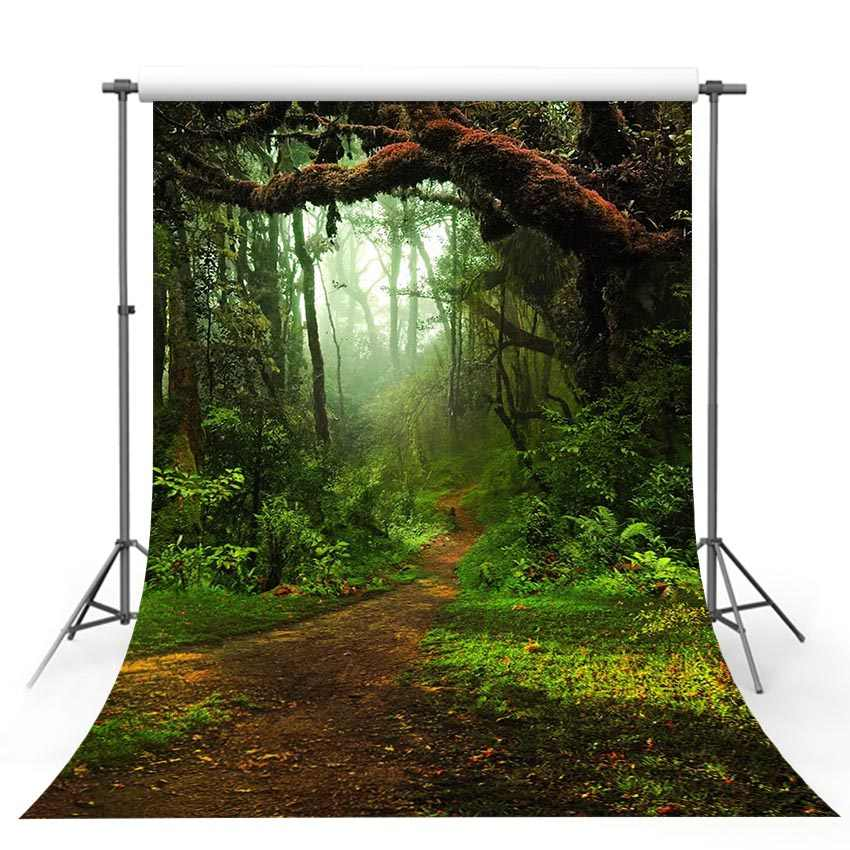 Mehofoto Green Leaves Backdrop Nature Lawn Vinyl Photography Background 5x7ft Wedding Birthday Party Background Decoration
