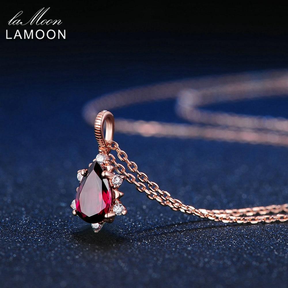 LAMOON Gözyaşardıcısı 5x7mm 1ct 100% Təbii Qırmızı Garnet - Gözəl zərgərlik - Fotoqrafiya 4