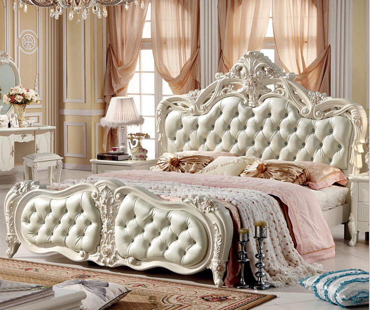 Hot Selling Classical Style Bed Room Furniture In Beds