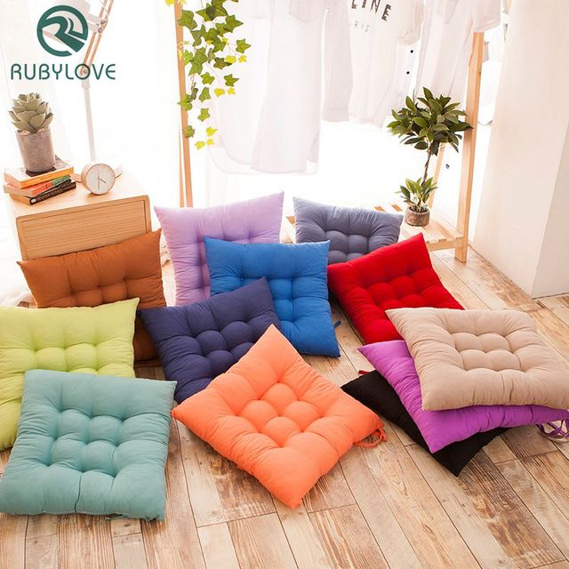 Simple Style Sofa Pearl Cotton Solid Color Throw Pillows Seat