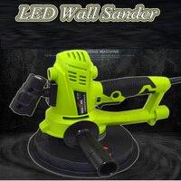 180mm disco ac220v 1500 2700rpm lixadeira de parede seca portátil multifuncional elétrica livre de poeira YQ 180A|Polidores| |  -