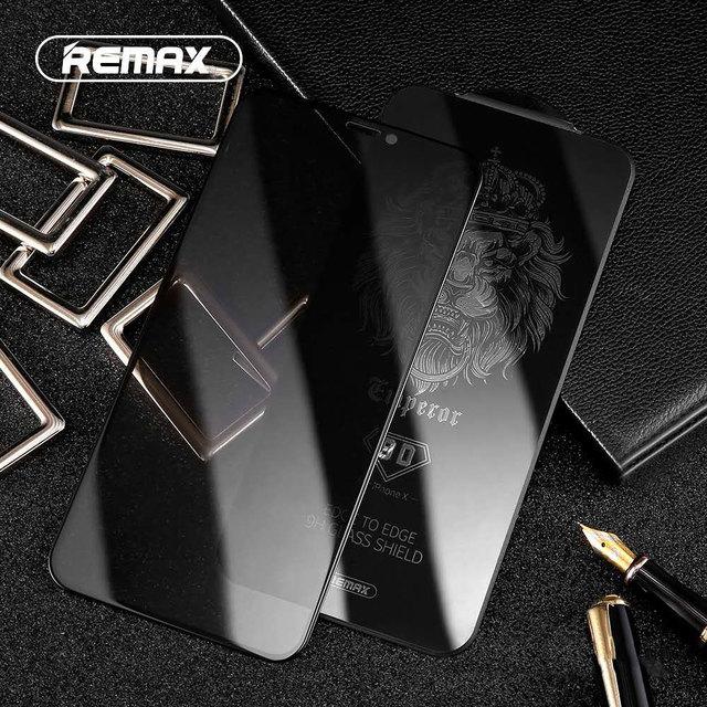 Protecteur décran en verre trempé REMAX 9D Anti intimité pour iPhone XS XR XSMAX Film étanche à la Surface incurvée