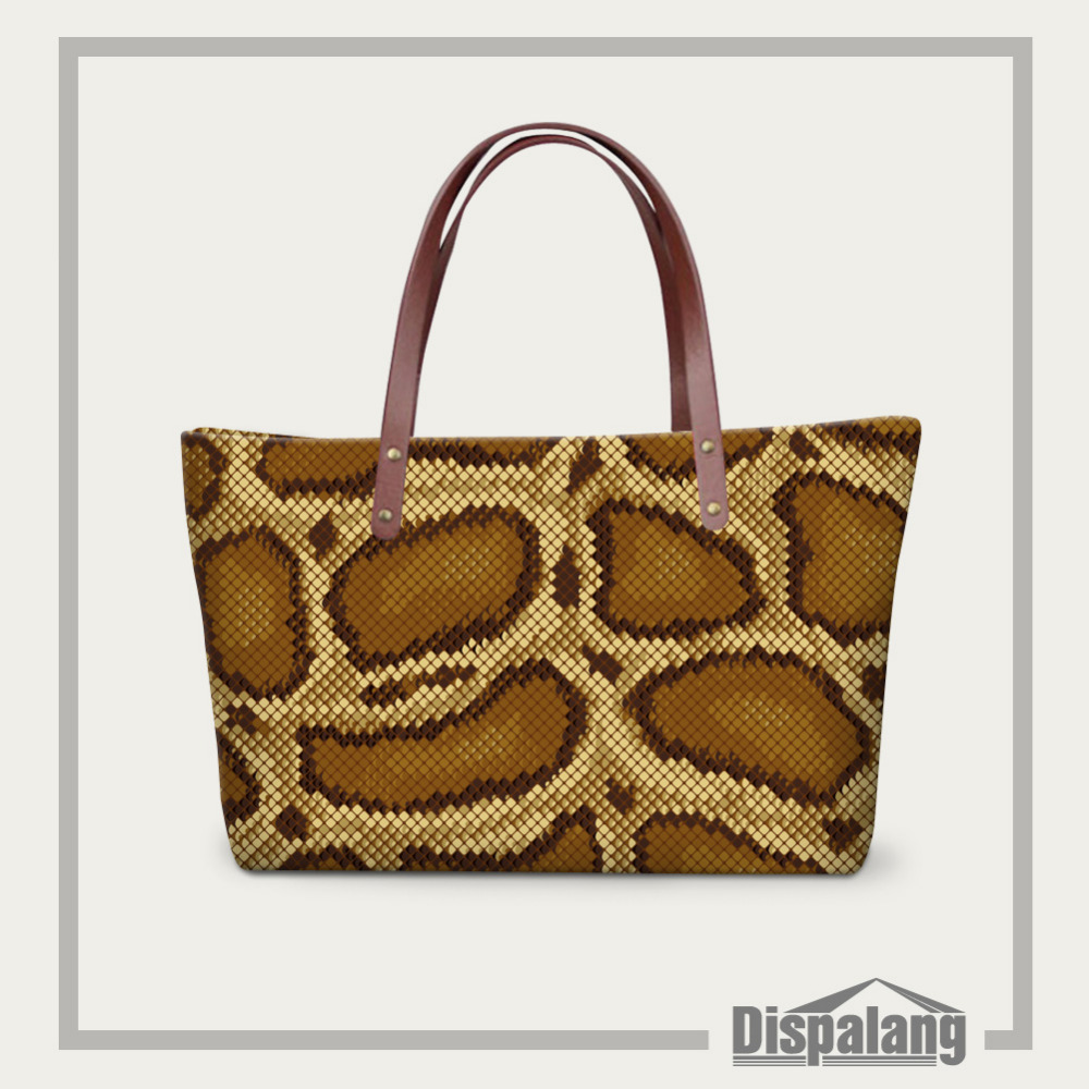 Fashion Women Handbags Snakeskin Printing Shoulder Bags Brand New Women Bags Casual Tote Office Lady Working Bag Bolsos Mujer