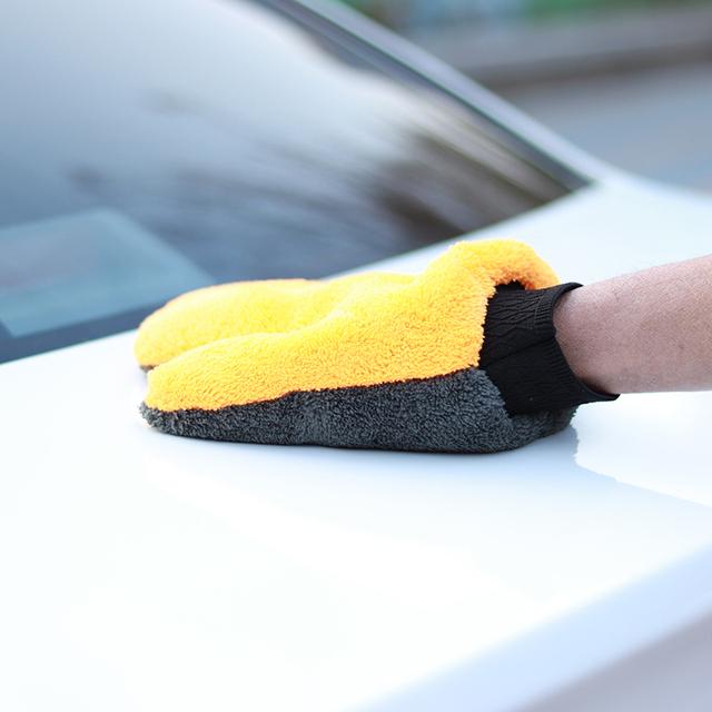 Microfiber Car Wash Glove Cleaning Sponge.