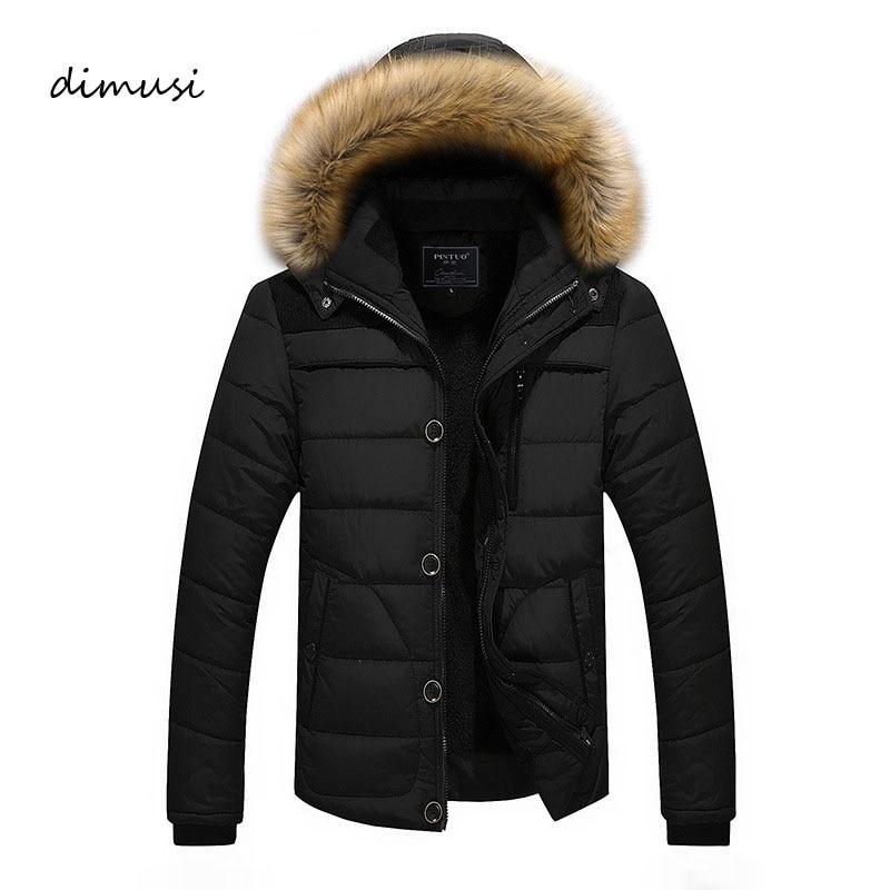 Dimusi Для мужчин зимняя куртка с капюшоном флис толстый Термальность Подпушка хлопковые парки мужские повседневные толстовки искусственной ...