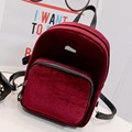 Fashion Women Backpack 2016 Soft Velvet Backpack Simple Backpack School Bags For Teenage Girls Students Book Bag Pack