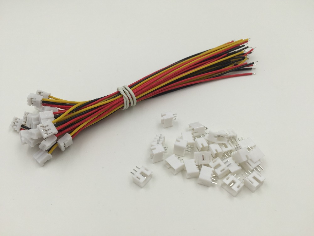 Mini Micro JST 1.25 1.0 PH2.0 2.54MM Connector plug with Wires Cables 10 Sets