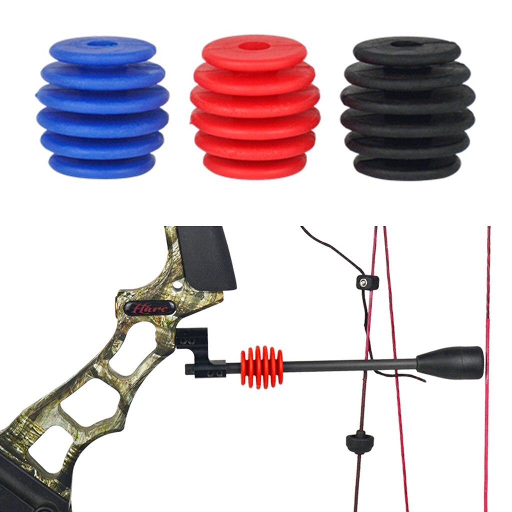 4 Pcs Archery Bow String Suppressor Stabilizer Silencer Target Hunting