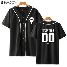New Anime Design Naruto Baseball Shirt Short Sleeve Baseball Jacket Uchiha Hatake Uzumaki Clan Badge Print Shirts Unisex Clothes
