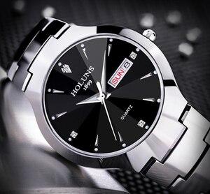 Image 3 - レロジオ masculino 2020 holuns タングステン鋼男性は石英ブランドの高級カジュアルダイヤモンド男性腕時計ドレス防水