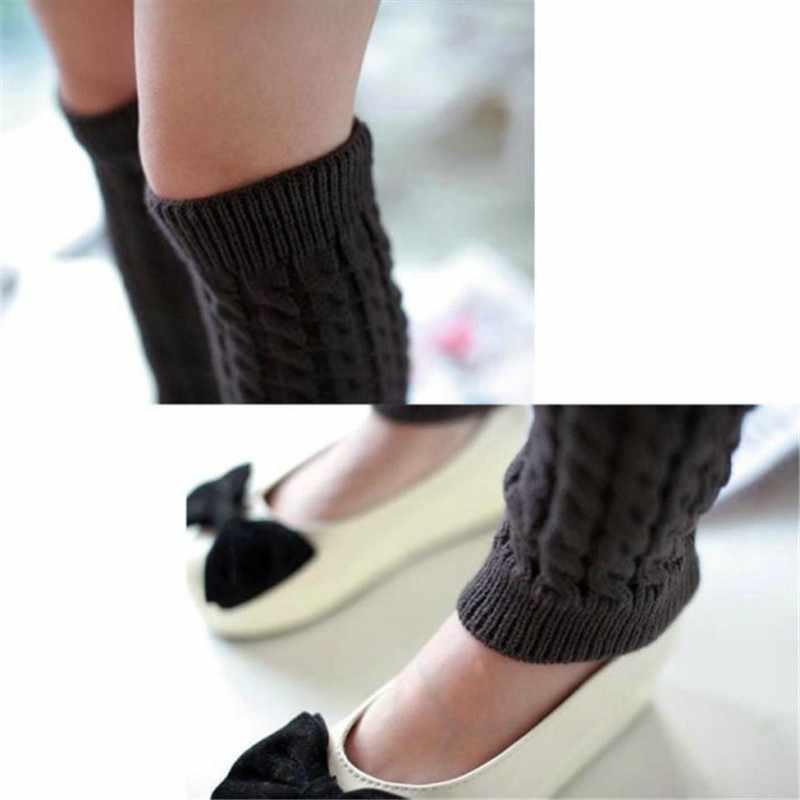 Женские высокие зимние вязаные высокие сапоги, носки, повседневные однотонные вязаные гетры до колена, Осень-зима, # YL1