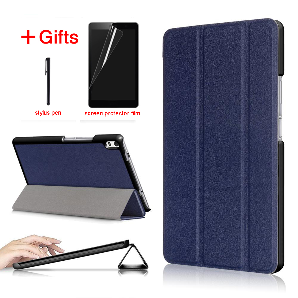 Slim Magnetic Folding PU Case cover for lenovo Tab4 tab 4 8 plus tb-8704x TB-8704F Tablet cover for lenovo Tab 4 8 plus case newest case for lenovo phab plus 6 8 case cover for lenovo phab plus pb1 770n pb1 770m 6 8 case free screen protector