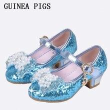 4100a4ae7 Детские сандалии принцессы, Детские свадебные туфли для девочек, модельные  туфли на высоком каблуке, золотые туфли с бантом для .
