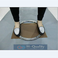 Solid Stainless Steel Lazy Susan Turntable Swivel Plate Kitchen Furniture Outside Dia 350 MM 14INCH Heavy