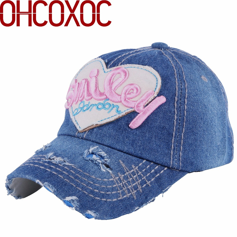 female women lovely casual hat cute caps large heart shaped embroidery  smile letter vintage style woman girl new baseball cap 5f17744f8b1