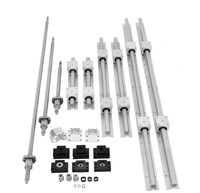 SBR 16 set Linear guide Rail 6 set SBR16 300/500/700mm + ballscrew RM1605 SFU1605 300/500/700mm+BK/BF12+Nut housing CNC part