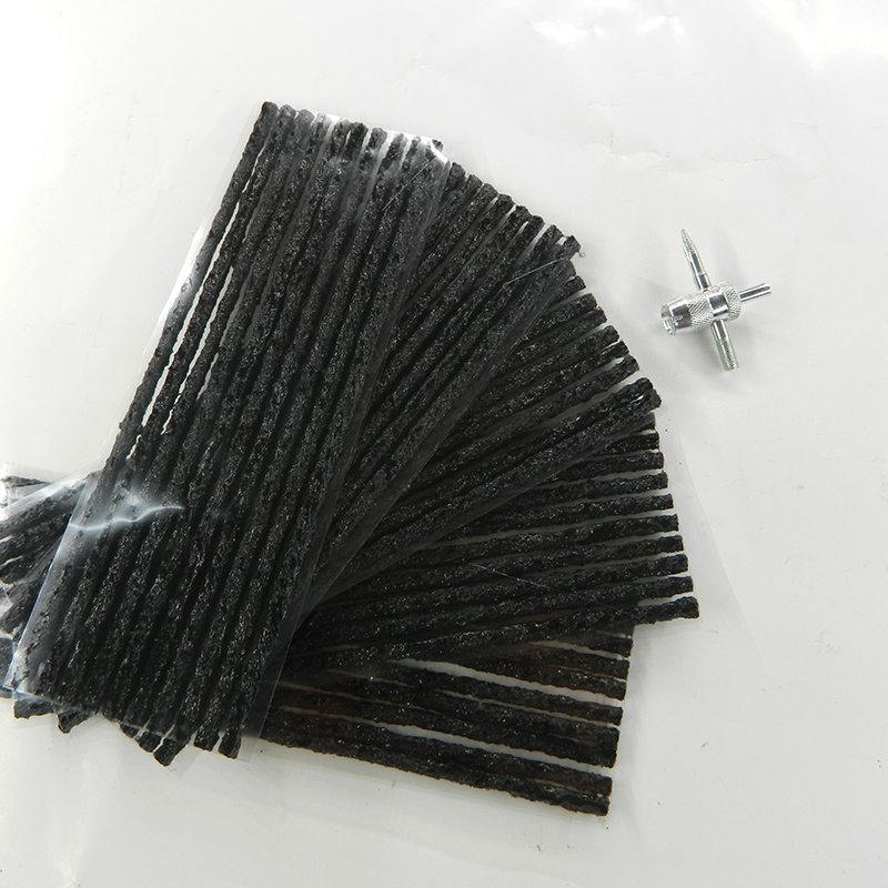 50pcs tubeless tire repair Scooter Bike Automobile Motorcycle Rubber Strips Kit Plug Tire Puncture Repair Sealer 200*4mm New