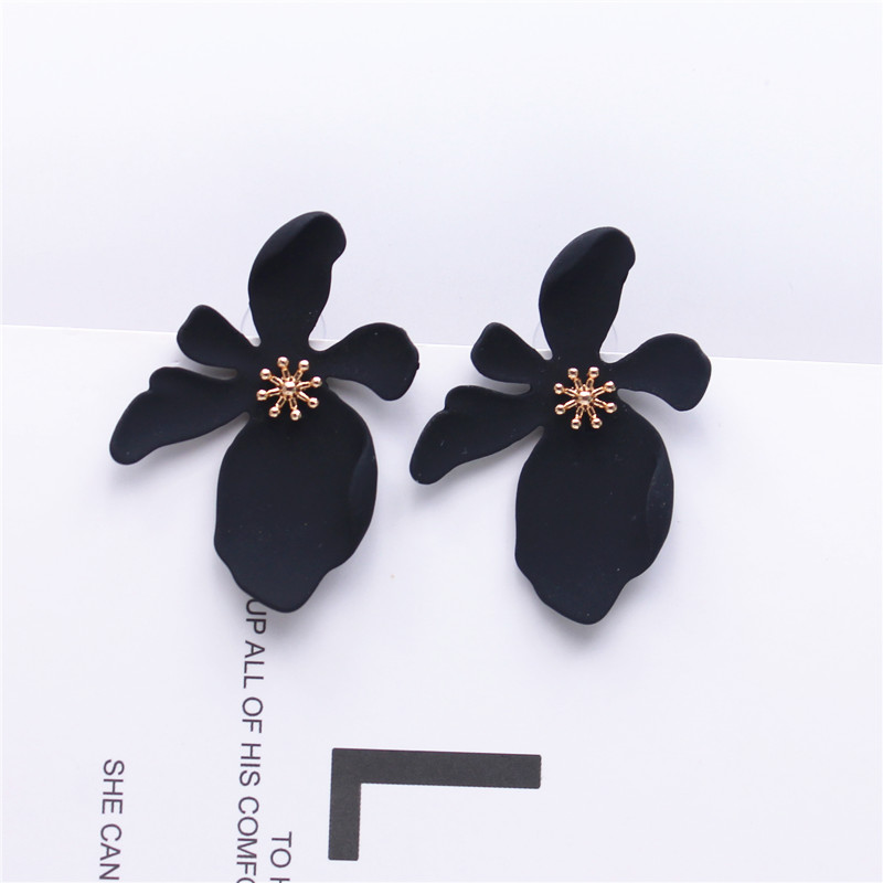 2019 New Design Fashion Jewelry Elegant big Flower Earrings Summer Style Beach Party Statement earring for Girls gift for woman Кольцо