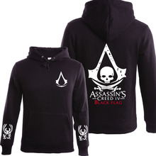 2016 herbst Winter Assasins Creed Hoodie Männer Schwarz Cosplay Sweatshirt Kostüm Fleece Gefüttert Assassins Creed Herren Hoodies Jacken