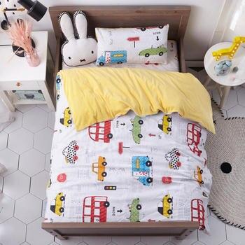 3 Pcs Bed Sets Flannel and Cotton Bedding Sets Soft Duvet Cover Bed Sheet Pillowcase Children's Bed Linen Duvet Cover Set