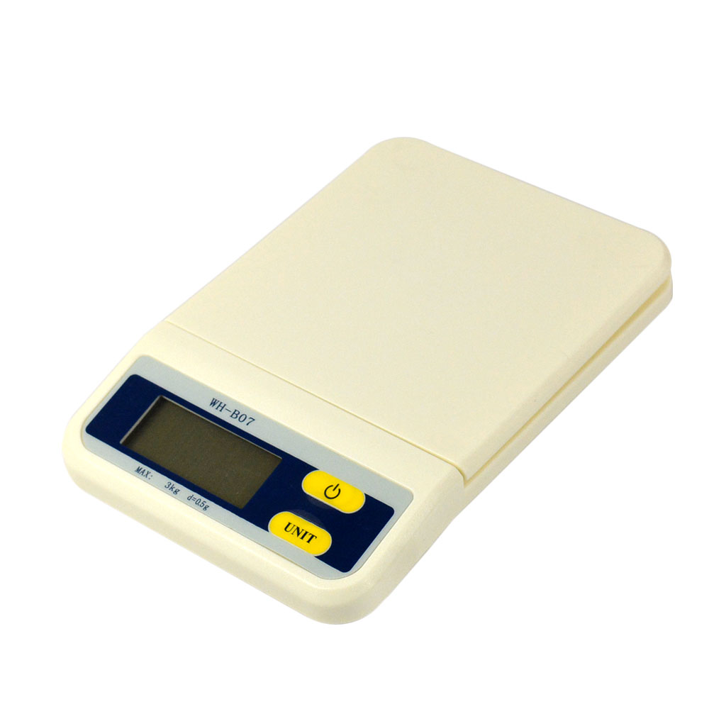 3kg Digital Lcd Electronic Kitchen Weight Scale Diet Food Postal Gram In Bathroom Scales