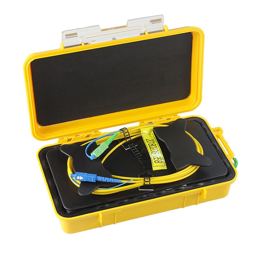 Fiber Optic OTDR Launch Cable Box 1000m for Singlemode SM 1310/1550nm OTDR Dead Zone Eliminator Fiber Rings FC SC/ACP UPC