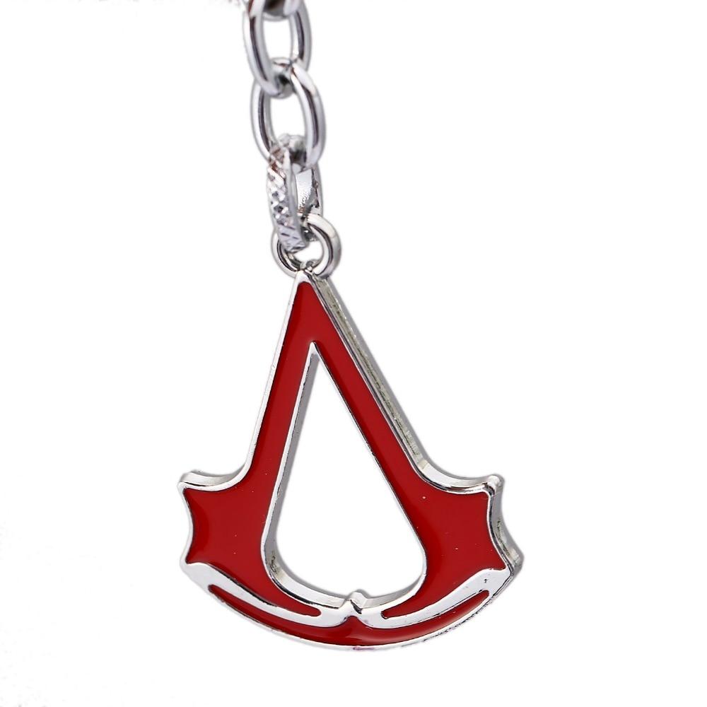 J Store Game Series Hero logo key chain Hidden Blade Gear Keychain Keyring Metal Pendant Model Toy For Boys Gift