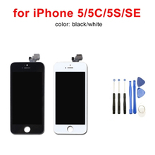 Factory sales AAA quality screen for iPhone 5 5S 5C SE 5SE LCD display and digitizer replacement touch Add free to