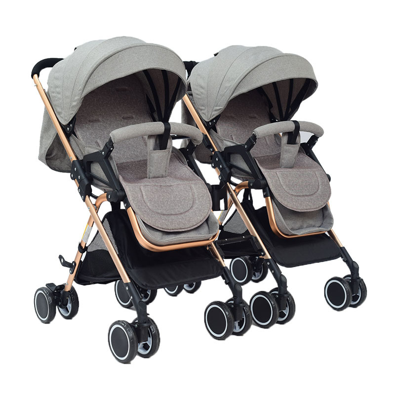 Twin baby portable twins can sit reclining lightweight folding detachable ultra light shock baby strollerTwin baby portable twins can sit reclining lightweight folding detachable ultra light shock baby stroller