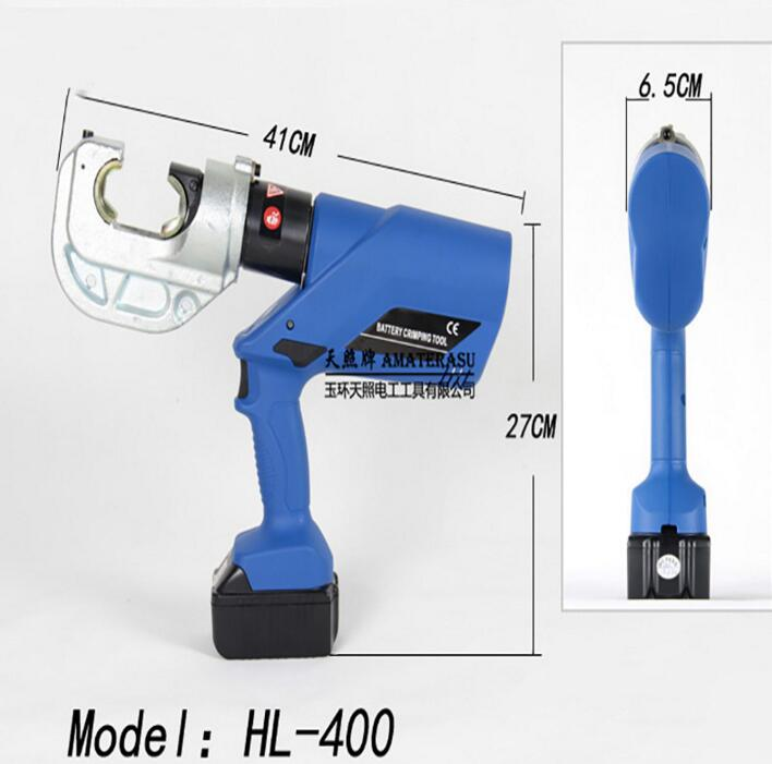 Pince à sertir électrique Rechargeable pince à sertir électrique pince à sertir avec HL-400 de sertissage 16-400mm2