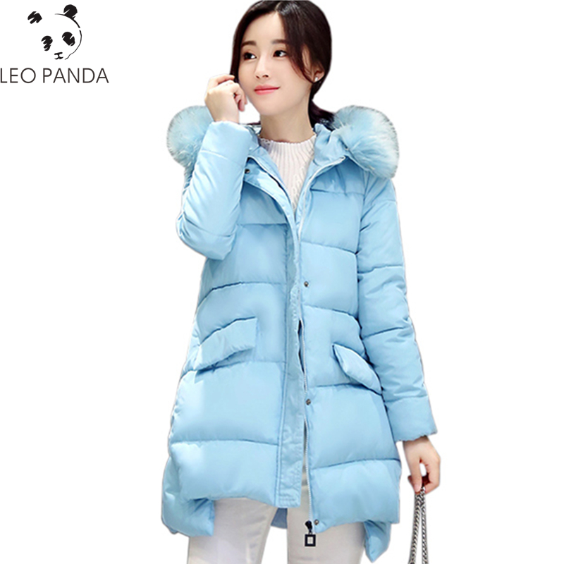 2017 New Winter Women Padded Jacket High Quality Ladies Wadded Cohat Warm Cotton Coat Fashion Long Zipper Parkas Plus Size WQ508 new wadded winter jacket women cotton long coat with hood pompom ball fashion padded warm hooded parkas casual ladies overcoat