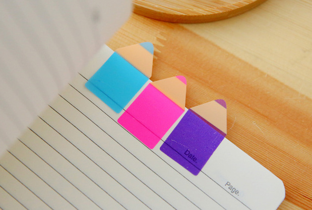 Creative pencil fluorescent Sticky Notes Memo Pad wirth ruler N Times Escolar Papelaria School Supply Bookmark Post it Label