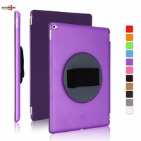 For Ipad Pro 12 9 Case Aiyopeen Handheld 360 Degree Rotating Cover 3 Fold Pu Leather