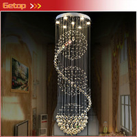 Modern Ball Design K9 Crystal Chandelier Large Lustres De Crystal Lights Spiral Design Lamp For Living