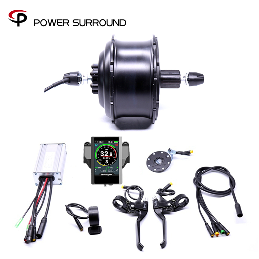 Waterproof Color display Eletrica 48v500w Fat Rear Cassette Brushless Hub Motor Snow Conversion Electric Wheel Ebike