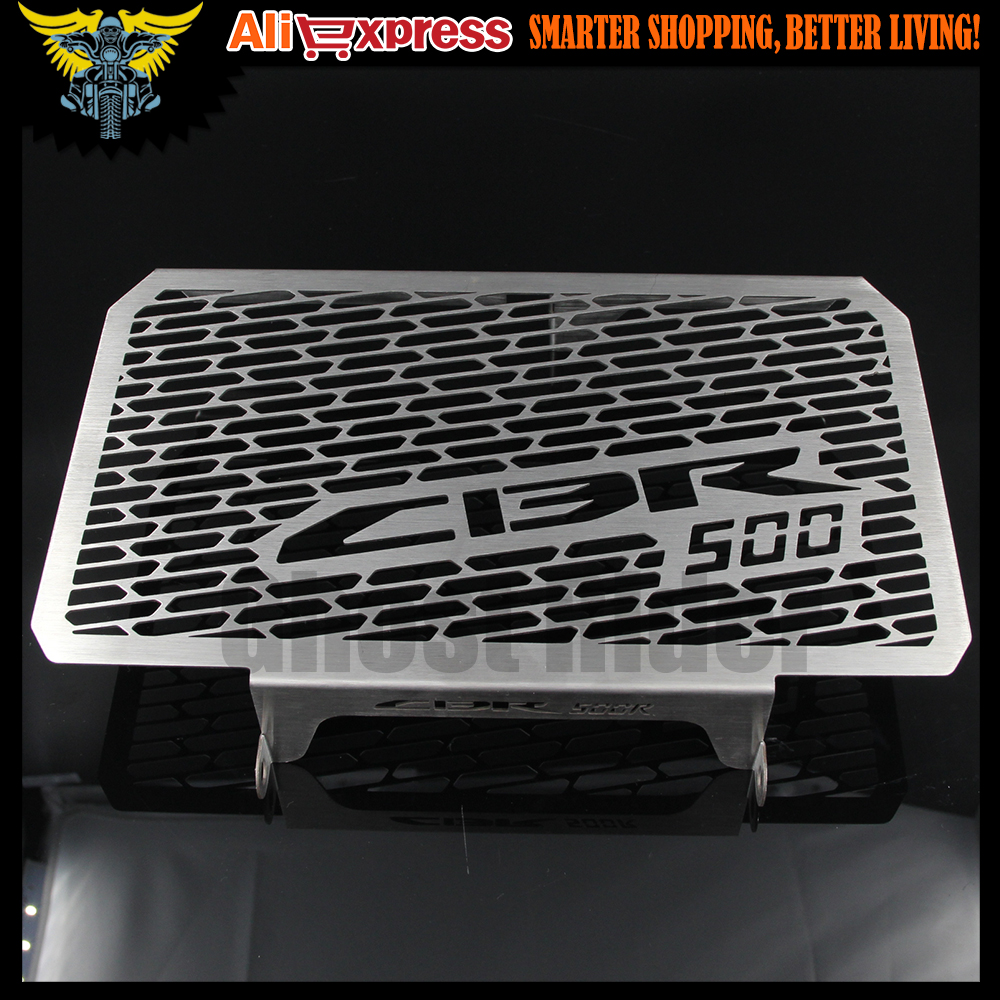 2016 New Arrival Stainless Steel Motorcycle Radiator Guard For HONDA CBR 500 500R CB500F CB500X 2013 2014 2015 motorcycle radiator protective cover grill guard grille protector for honda cbr650f cb650f cbr cb 650 f 2014 2015 2016 2017