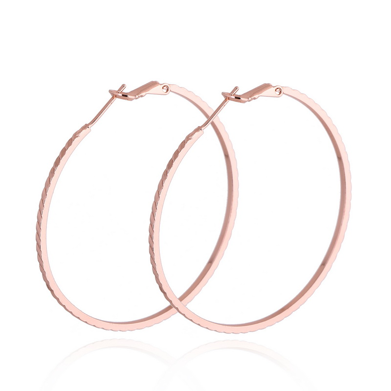 FUNIQUE 2017 HOT Fashion Big Hoop Earrings Rose Gold color Basketball Wives Earrings Women Jewelry Party Ladies