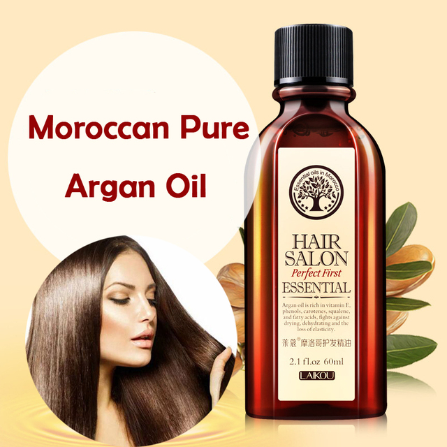 Brand Hair Care Essential Oil Treatment For Dry Hairs Moisturizing Soft and Shiny Hair 60ml Moroccan Pure Argan Hair Oil