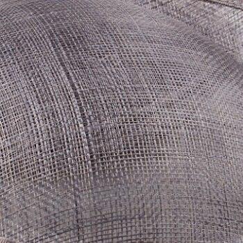 Элегантные шляпки из соломки синамей с вуалеткой хорошее Свадебные шляпы высокого качества черного цвета Клубная кепка очень хорошее 17 цветов MSF099 - Цвет: Серый