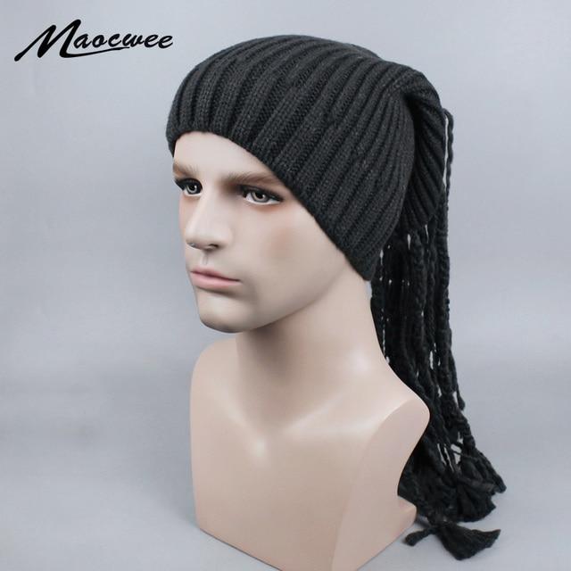 Dreadlocks chapéu Reggae Jamaica Rasta Gorro Slouchy Beanie Chapéu Morno do  Inverno Malha cor Sólida Listrado 3676c59d256