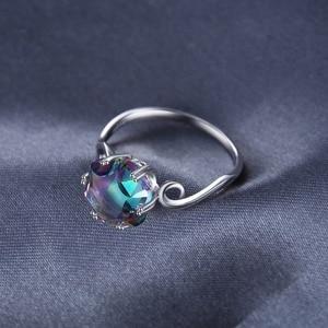Image 3 - JewelryPalace 3ct oryginalna tęcza tajemniczy pierścionek z topazem 925 srebro pierścionki kobiety pierścionek zaręczynowy srebro 925 kamieni szlachetnych biżuteria