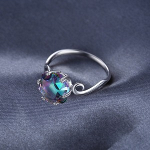 Image 3 - Jewelrypalace 3ct本物のレインボーリング 925 スターリングシルバーリング女性の婚約指輪シルバー 925 宝石ジュエリー