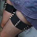 Готический каваи пара шипами подвязки эластичные подвязки бдсм гранж панк фетиш связывание подвязки альтернативная сексуальная ведьма шипами подвязки