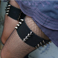Gothic Kawaii PAIR spiked garters elastic garters BDSM grunge punk fetish bondage garter alternative sexy witch spiked garter