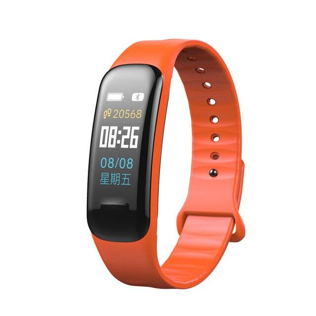 Bluetooth C1 Plus Kolor LCD Inteligentna bransoletka Tlen krwi - Męskie zegarki - Zdjęcie 4