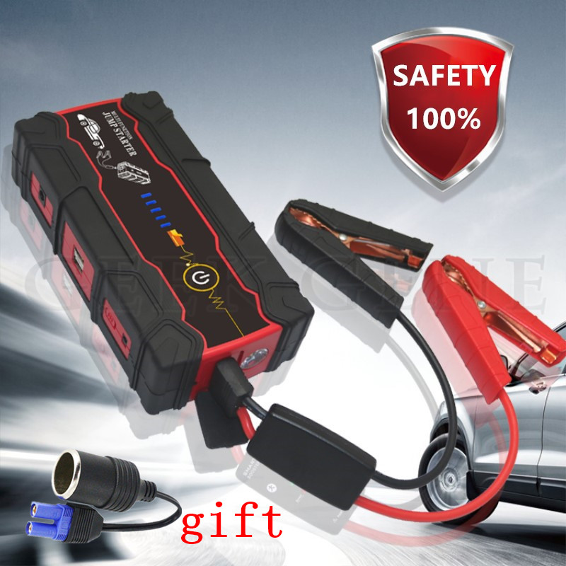 2017 Mini Multifunction Vehicle Emergency Start Battery Charger Engine Booster Power Bank Car Jump Starter 12V Battery Pack newest 50800mah 12v car emergency start power bank vehicle jump starter booster portable current battery charger three light hot