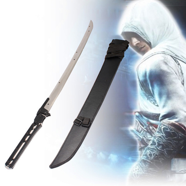 Fashion home decor anime sword best collection ginsu knives the unique design metal knife leather sheath