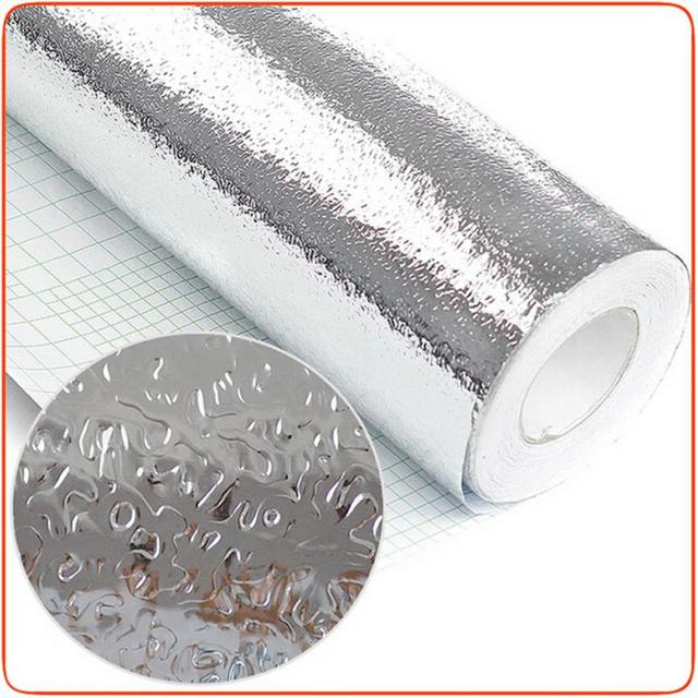1 Roll Waterproof Kitchen Drawer Mat Oil Resistant Foil Stickers Self Adhesive Anti Sticker Cabinet Aluminum 40 200 Cm
